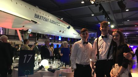 Nailsea students at the Concorde50 event with science teacher Tom Pearson.