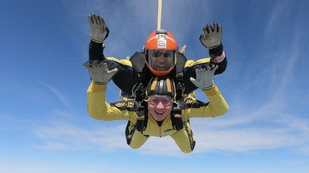 Dylan Webb completed a skydive for charity.