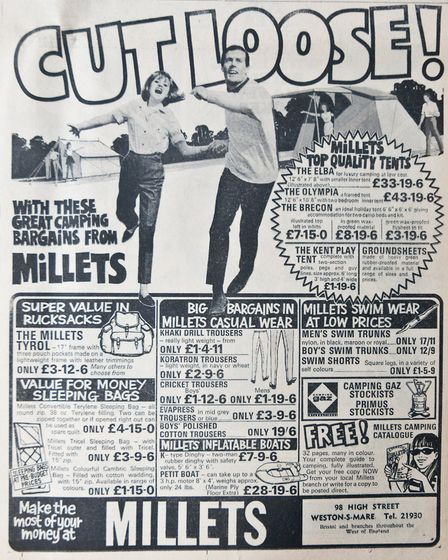 Ads 16th May 1969 Edition. Picture: WESTON MERCURY