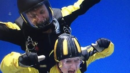 Clair Satchwell jumping from 15,000ft to raise money for Weston Hospicecare.