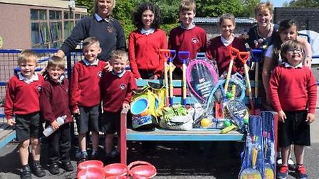 Puxton Park has donated dozens of toys to Locking Primary School.Picture: Puxton Park