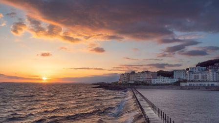 A stunning sunset setting behind Weston's sea. Picture: Steve Britton