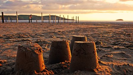 Sand castles built on Weston beach. Picture: Terry Kelly.