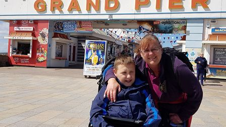 Weston mum Deborah Branovits and her autistic son Matthew, aged 11.Picture: Westons Grand Pier