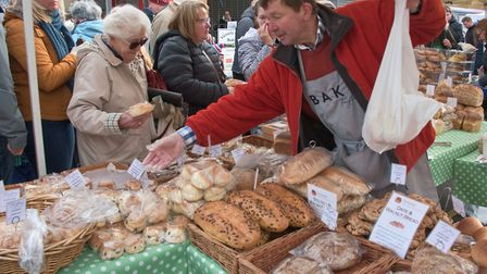 Taylors Bakery doing a brisk trade at eat:Burnham. Picture: MARK ATHERTON