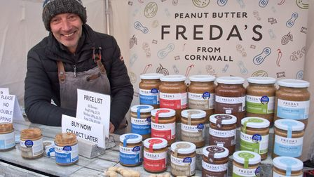 Freda's Peanut Butter from Cornwall at eat:Burnham festival. Picture: MARK ATHERTON