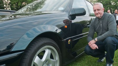 Sean Puckle with his Lotus Carlton from 1992. Picture: MARK ATHERTON