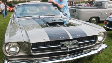 Patrick Duffin and his 1964 Ford Mustang. Picture: MARK ATHERTON