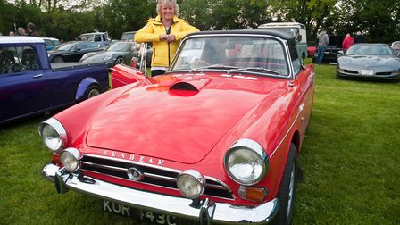 Pat Crowther with her 1965 Sunbeam Tiger. Picture: MARK ATHERTON