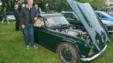 Tony Luffman and his supercharged Triumph TR4 from 1962. Picture: MARK ATHERTON