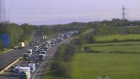 There are delays of up to 40 minutes on the M5 this morning. Picture: Highways England