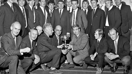 Weston Football League trophies were distributed at the Winter Gardens Pavilion. Chairman Doug Atwel