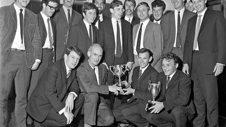 Weston Football League trophies were distributed at the Winter Gardens Pavilion. Roy Wilmot (Lockin