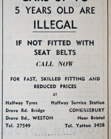 Ads 23rd May 1969 Edition. Picture: WESTON MERCURY