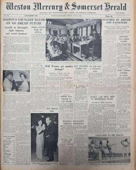 Front Page 23rd May 1969 Edition. Picture: WESTON MERCURY