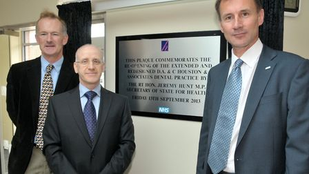 Then Health Secretary Jeremy Hunt joined John Penrose at the opening of Houstons new practice in 201