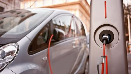 An electric car charging on the street. Picture: Getty Images