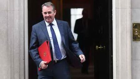 Dr Liam Fox leaving 10 Downing Street before the Article 50 vote. Picture: Stefan Rousseau/PA Wire