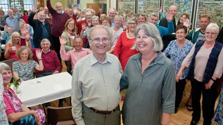 Tea party to thank Tom Leimdorfer for all he has done for Congresbury. Picture: MARK ATHERT