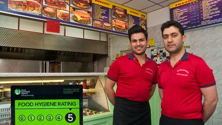 Mehmet Yigit and his brother Dervis at the Kebab Kitchen. It has gone from one to five stars rating.