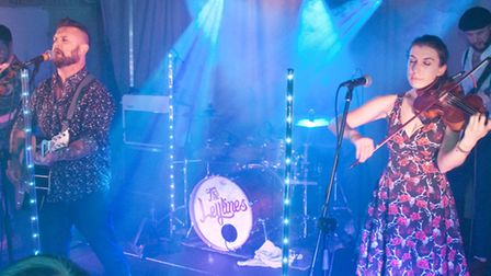 The Leylines performing at Weston Cricket Club beer and cider festival. Picture: MARK ATHERTON