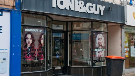 Toni & Guy in High Street is closing. Picture: MARK ATHERTON