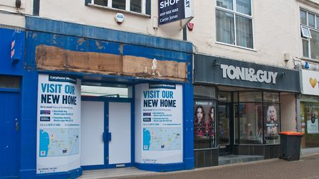 Carphone Warehouse and Toni&Guy have closed in High Street. Picture: MARK ATHERTON