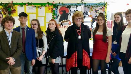Students from Clevedon School who passed their spoken English. Picture: Shane Dean