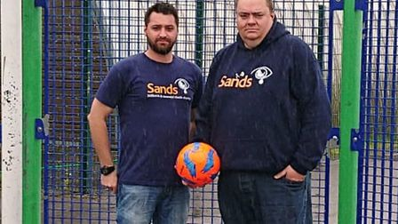 Keith La Grange and Peter Byrom from Sands United FC.