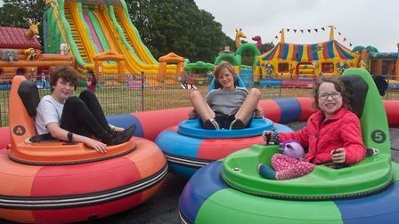 Angus Pedrick brings his inflatable childrens theme park to Gatcombe Farm in Long Ashton. Picture: M