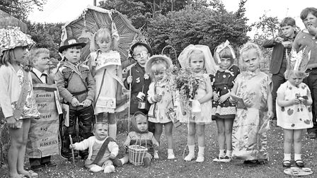 Competitors in the fancy dress parade at Lympsham Methodist Church Garden Sale and Fete. Picture