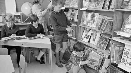 Milton Junior School now has a new library. Our picture shows some of the children using the library
