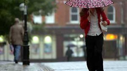 Heavy rain is expected to last from 2-11pm today.
