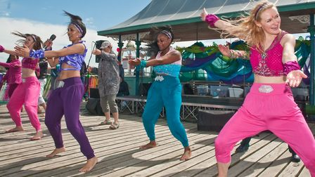 Clevedon Pier 150th birthday celebrations. Mumtaz Bollwood Dance Company. Picture: MARK ATHERTON