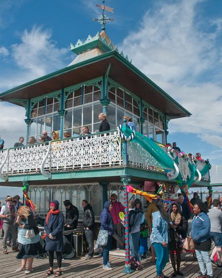 Clevedon Pier 150th birthday celebrations. Picture: MARK ATHERTON