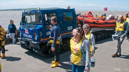 RNLI Lifeboat pull from Anchor Head along the promenade. Picture: MARK ATHERTON
