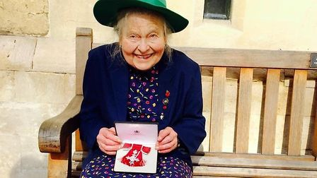 Yvonne Chamberlain with her MBE from the Queen.Picture: Nicole Dommett
