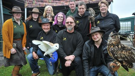 Founder Darren Jenkins centre with his teamAvon Owls, in Banwell an host open day. SF26,05,19
