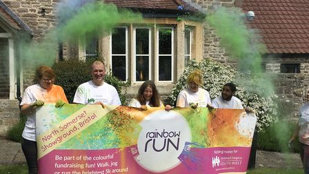 PB Design & Developments, Cabot Circus and Southern Co-op get geared up for the Rainbow Run.