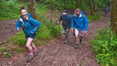Walkers at Kingswood. Weston Hopicecare Mendip Challenge. Picture: MARK ATHERTON