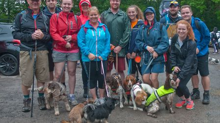 Walkers at the Kingswood check point. Weston Hopicecare Mendip Challenge. Picture: MARK ATHERTON