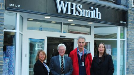 Councillors at the opening of the refurbished WHSmith.