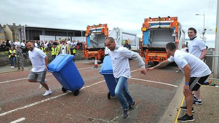 The teams in action at the National Refuse Championships last year.