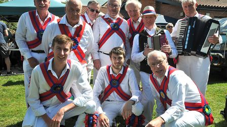 The Chalice Morris Men from Brent Knoll get ready to performBrent Knoll Village Fair8,06,19
