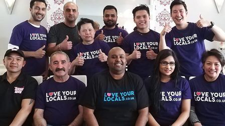 Kuwaz Ali with business owners on Love Your Locals.