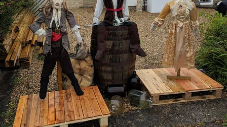 Pirate scarecrows. Picture: Andrew Baxter