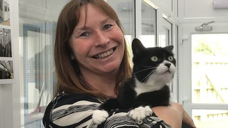 Bugsy the cat has been reunited with his family. Picture: RSPCA