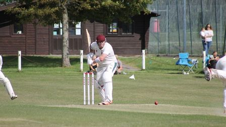 Mick Edmunds in action for Congresbury against Bath