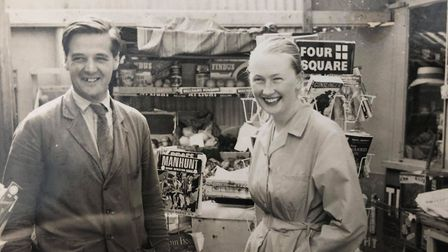 Arthur and Audrey Tottle in Royal Oak Stores. Picture: Adele Louise
