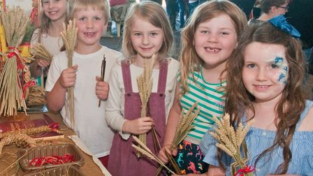Making corn dollies at the Fleece Fair. Picture: MARK ATHERTON